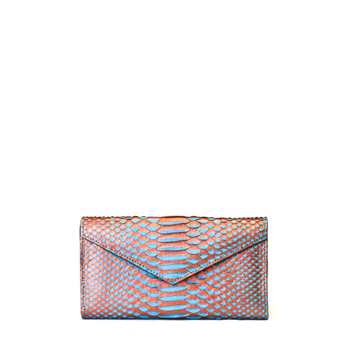 Giovanna Barrios Python Envelope Wallet