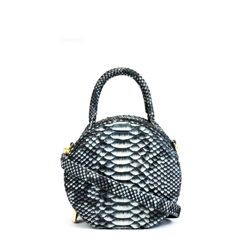 Giovanna Barrios Round Python Purse