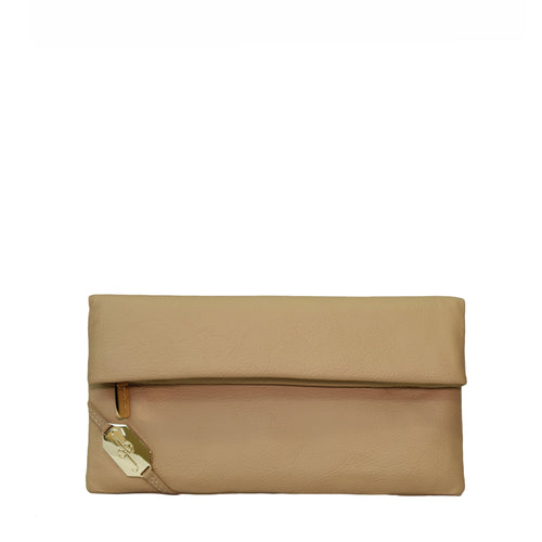 Giovanna Barrios Leather Fold Clutch