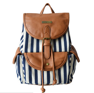 Newave Leather Canvas Backpack