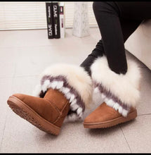 Emerald Jay  Fur Ankle Boots Calf Snow Boot