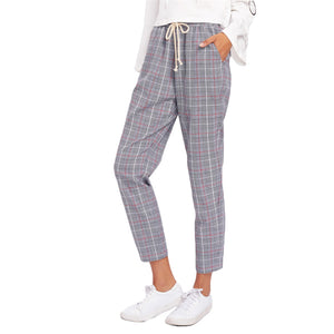 Trendy Women's Plaid Trousers