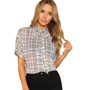 Trendy Batwing Spring/Summer Short Sleeve Blouse