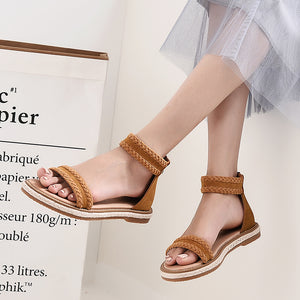 Trendy Women's Leather Summer Sandals