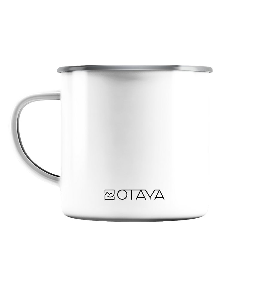 Mountainbike - Emaille Tasse