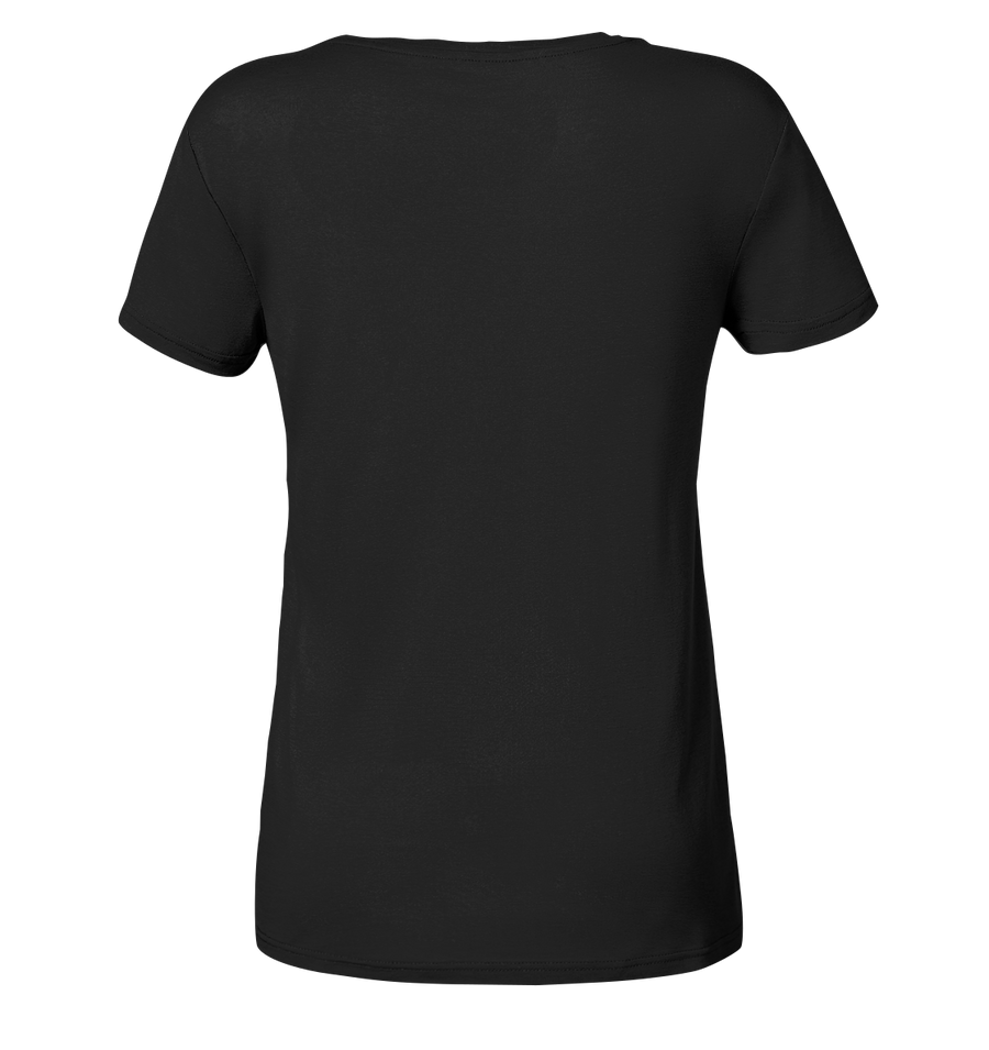 Snowboarden - Ladies Organic V-Neck Shirt