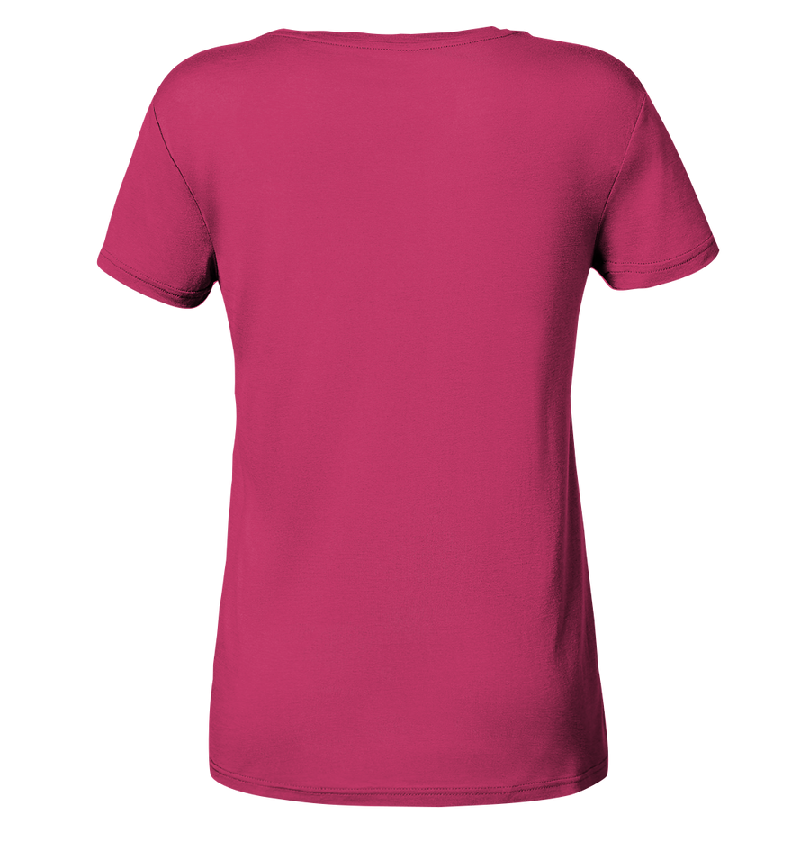 Skifahren - Ladies Organic V-Neck Shirt