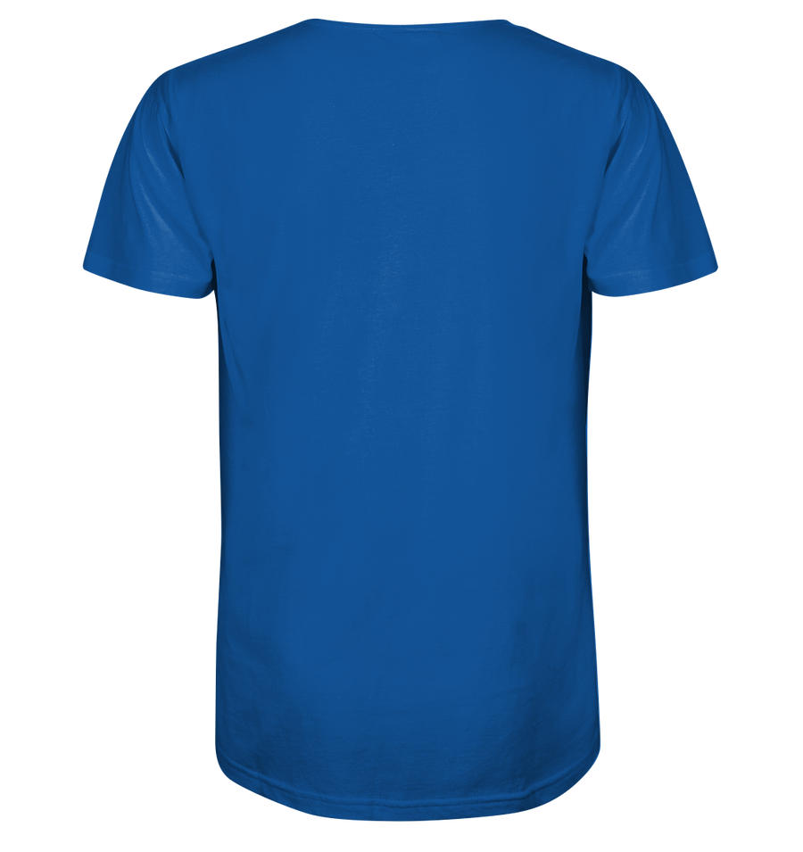 0% Emission 100% Emotion - Mens Organic V-Neck Shirt