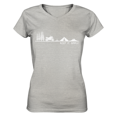 Keep it Simple - Ladies V-Neck Shirt