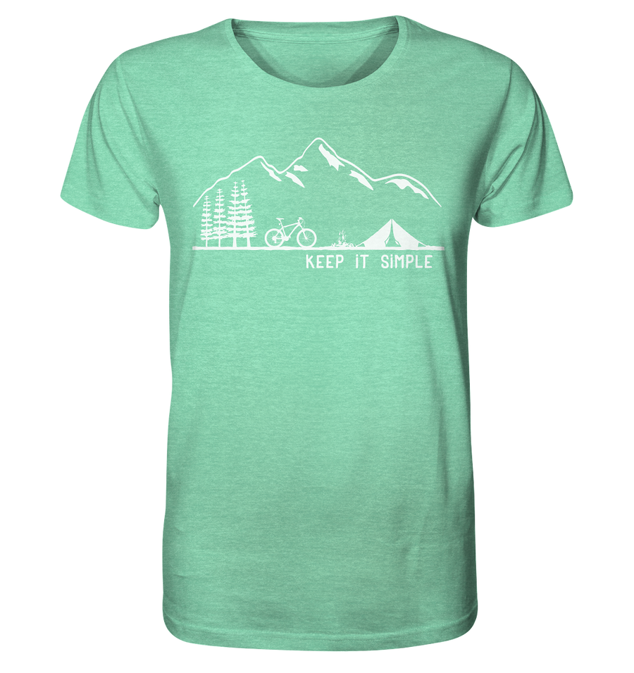 Keep it Simple - Mountainbike - Organic Shirt Meliert