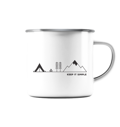 Keep it Simple - Emaille Tasse