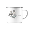 Sailing Whale - Emaille Tasse
