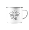 Yoga Lotus - Emaille Tasse