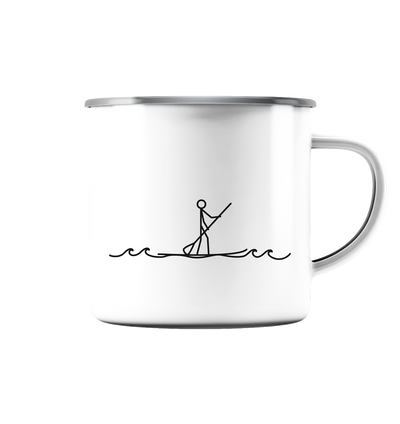 Stand Up Paddle - Emaille Tasse