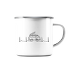 Herzschlag Vanlife Docproofed - Emaille Tasse