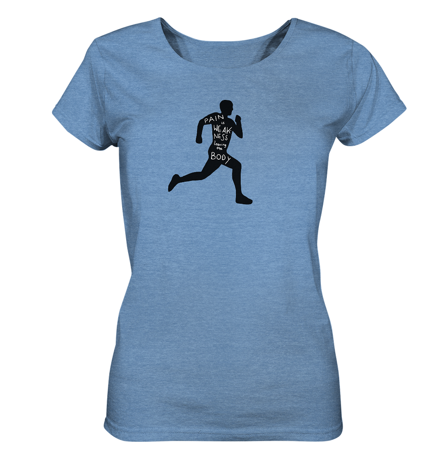 Runner Man Pain - Ladies Organic Shirt Meliert
