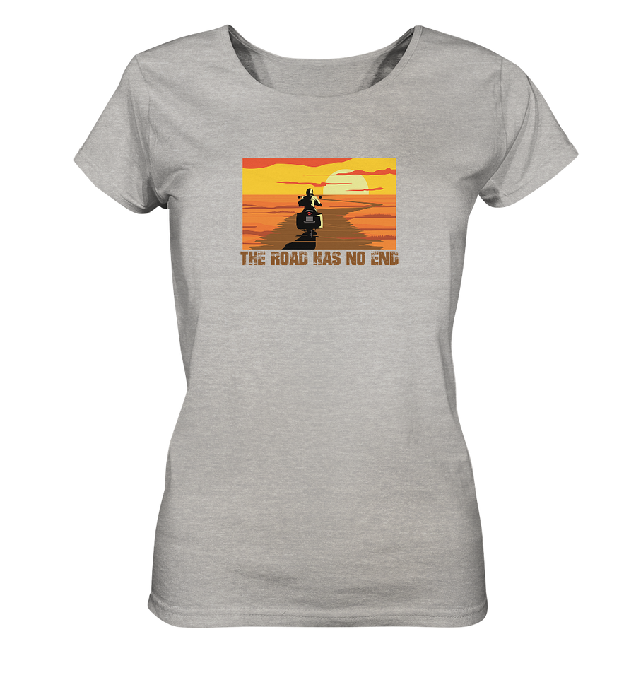 The Road has no End - Ladies Organic Shirt Meliert