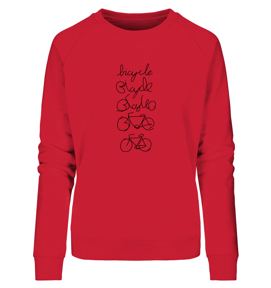 Bicycle - Ladies Organic Sweatshirt