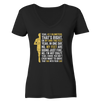 Yes,  42,2km - on my own two feet - Ladies Organic V-Neck Shirt