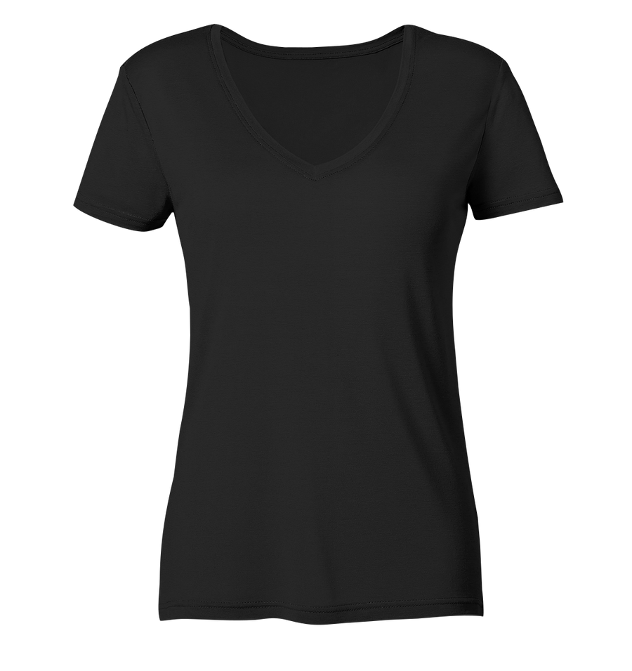 Focus On The Good Things In Life - Ladies Organic V-Neck Shirt