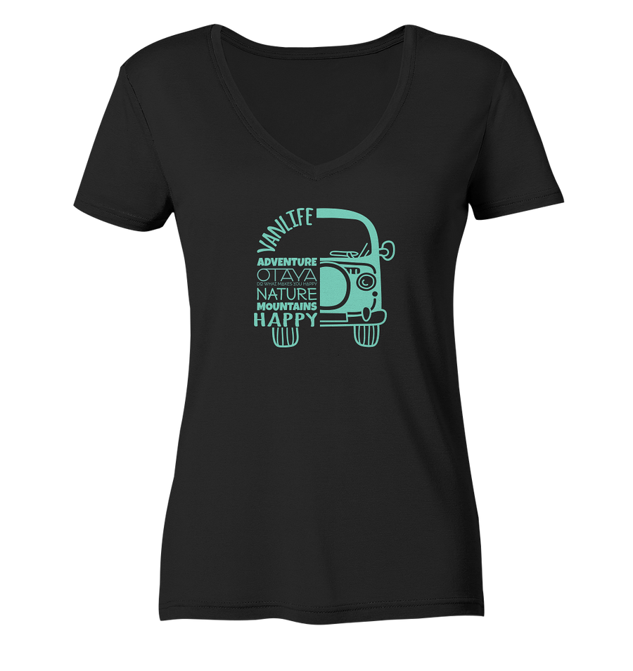 OTAYA Vanlife - Ladies Organic V-Neck Shirt