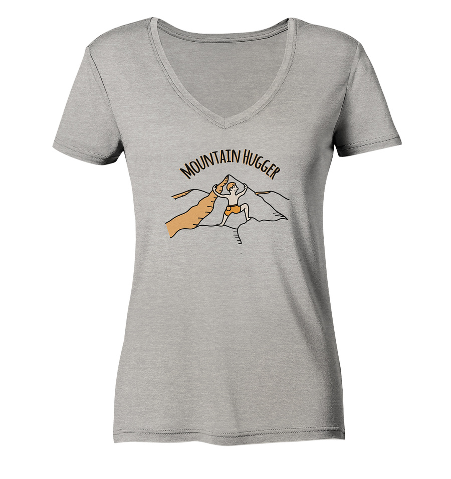 Mountain Hugger - Ladies Organic V-Neck Shirt
