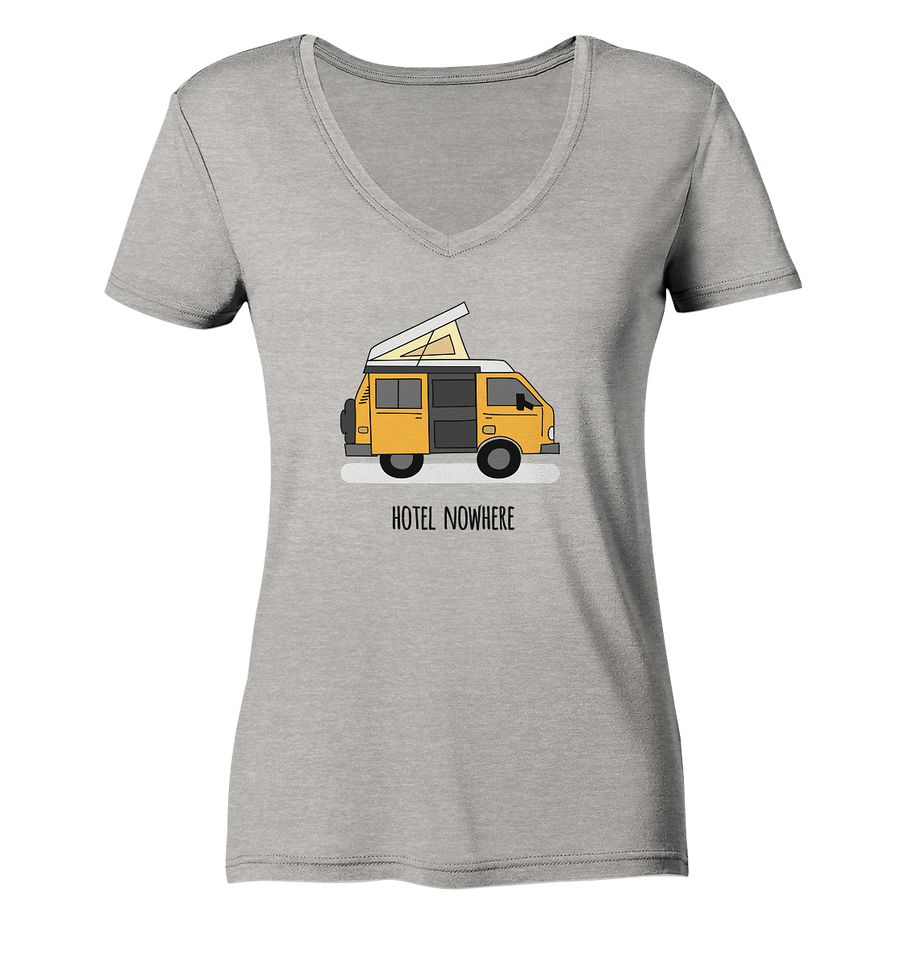Hotel Nowhere - Ladies Organic V-Neck Shirt