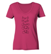 Bicycle - Ladies Organic V-Neck Shirt