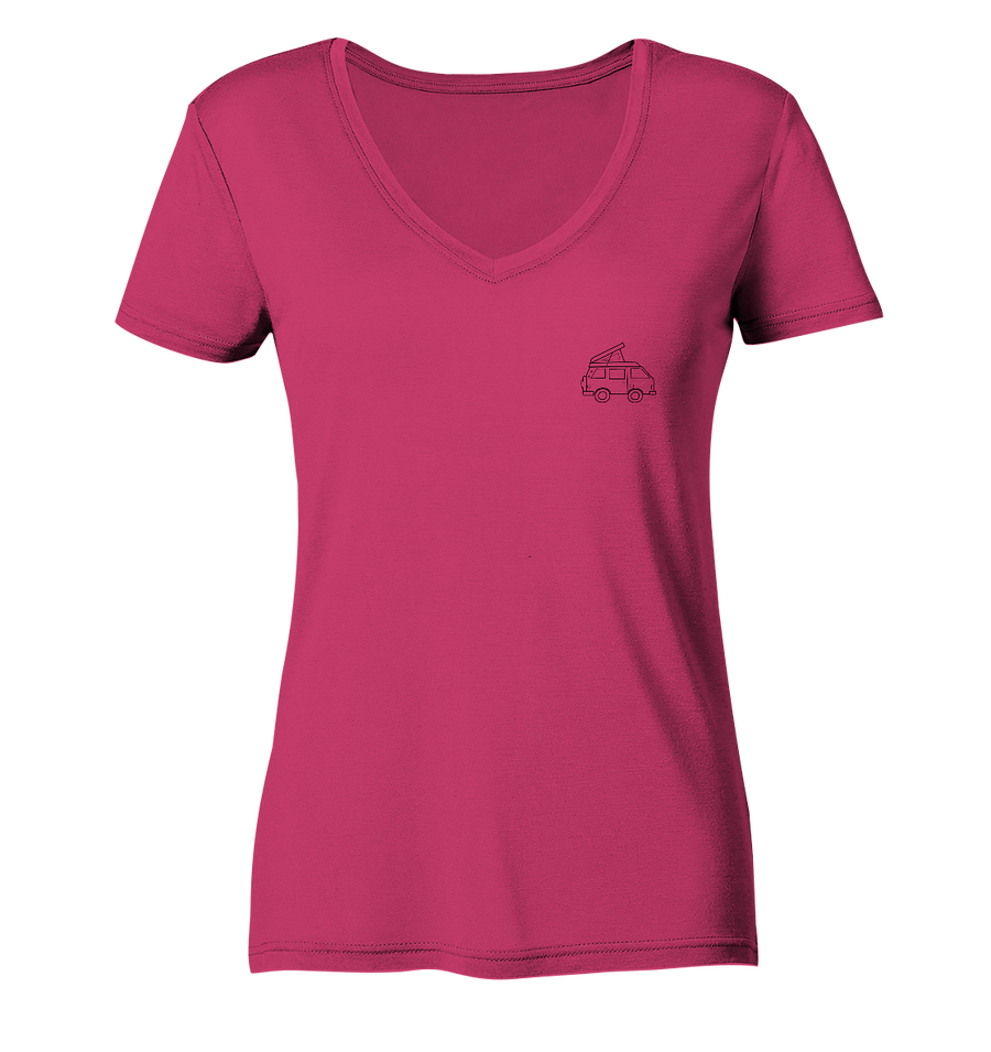 Vanlife - Ladies Organic V-Neck Shirt