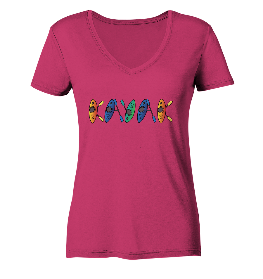 Kayak - Ladies Organic V-Neck Shirt