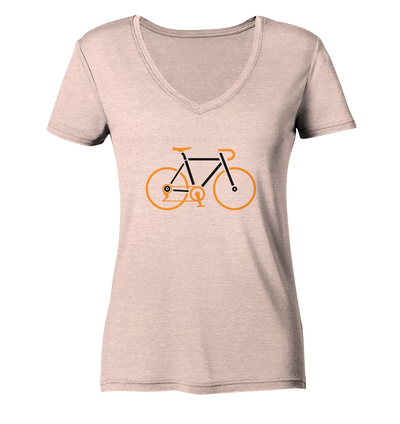 Rennrad - Ladies Organic V-Neck Shirt