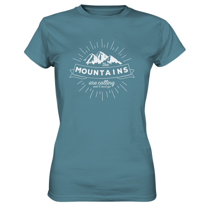 Mountains are Calling - Ladies Premium Shirt
