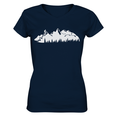 Mountainbike - Ladies V-Neck Shirt