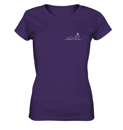 Rodeln - Ladies V-Neck Shirt