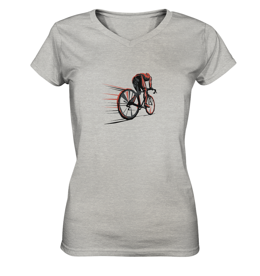 Cyclomaniac - Ladies V-Neck Shirt
