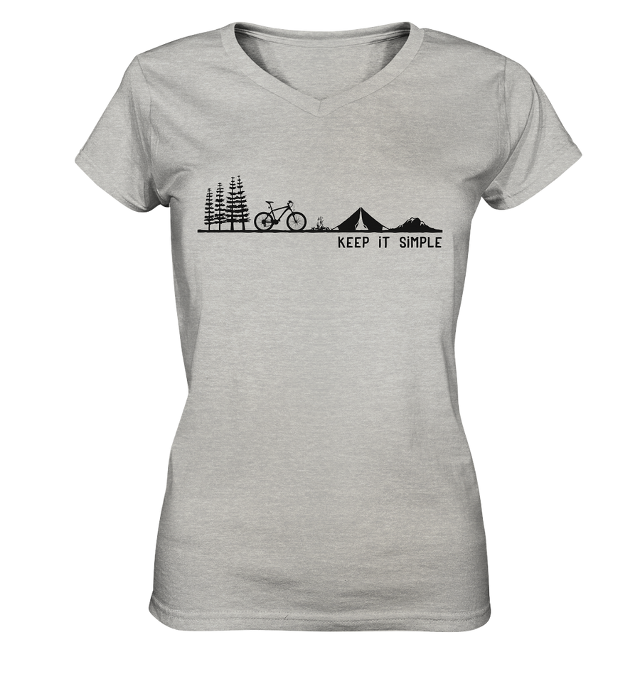 Keep it Simple - Mountainbike - Ladies V-Neck Shirt