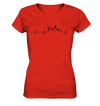 Herzschlag Mountainbike & Snowboard - Ladies V-Neck Shirt