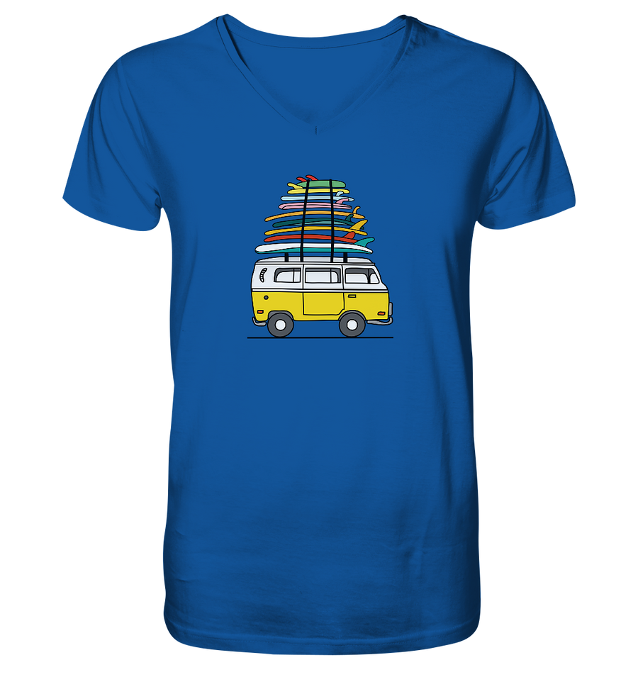 Vanlife & Surf - Mens Organic V-Neck Shirt