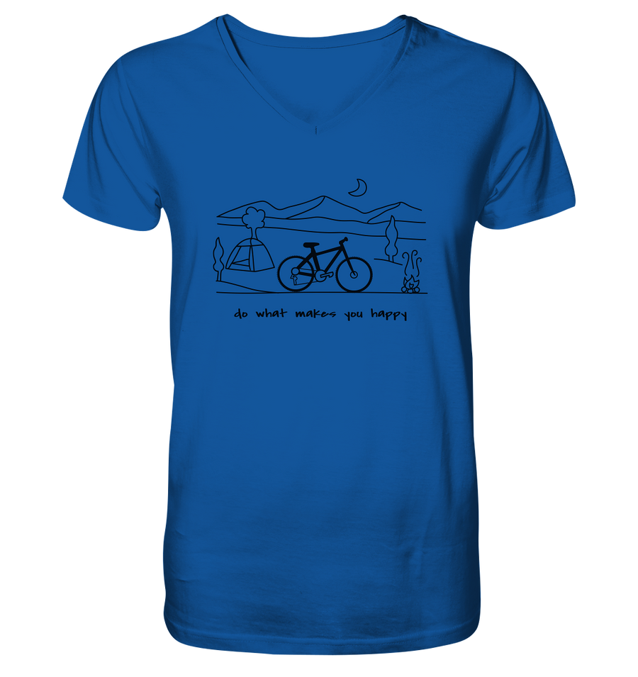 Do What Makes You Happy - Mens Organic V-Neck Shirt - Sale