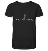 Stand Up Paddle - Mens Organic V-Neck Shirt