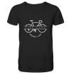 Ride More Worry Less - Mens Organic V-Neck Shirt