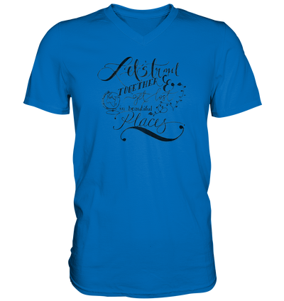 Let's Travel Together - Mens V-Neck Shirt
