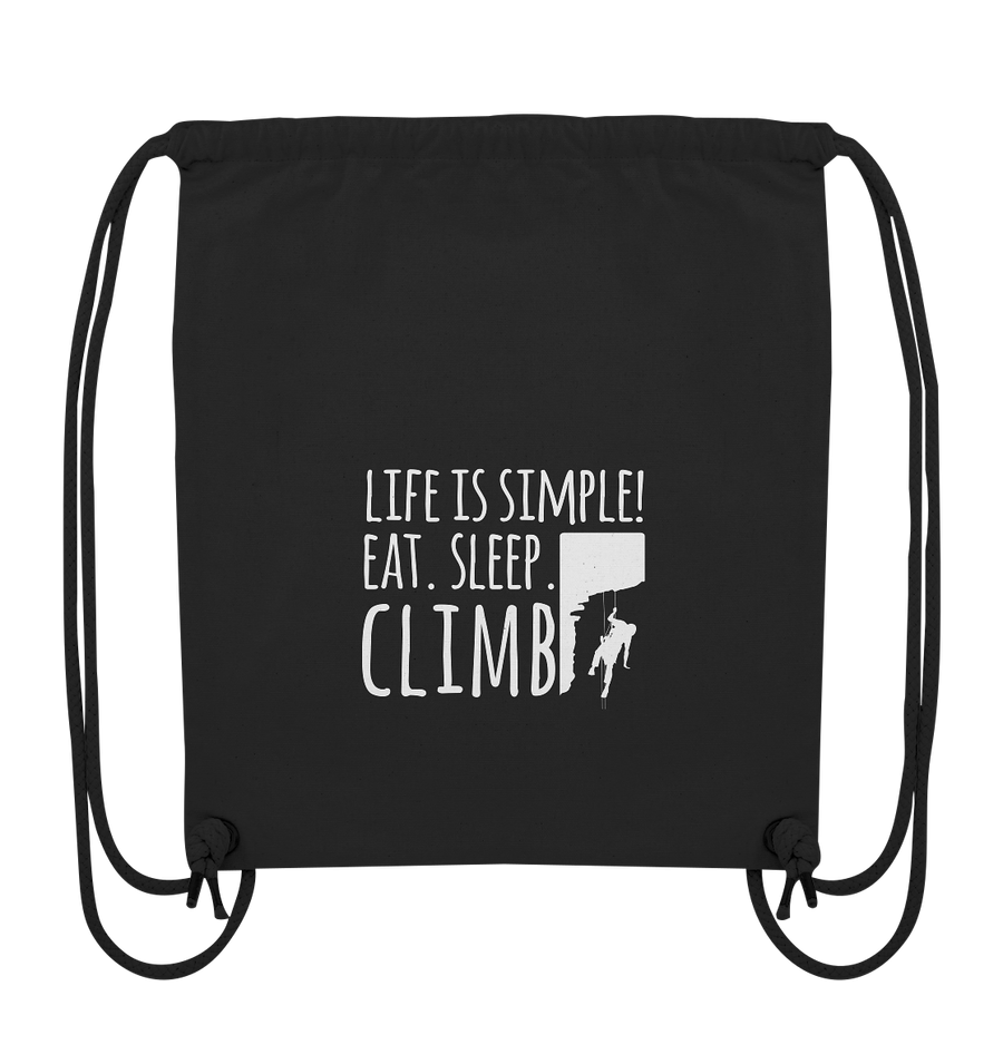 Eat. Sleep. Climb. - Organic Gym Bag