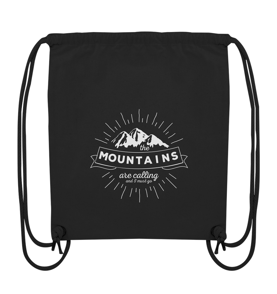 Mountains are Calling - Organic Gym Bag