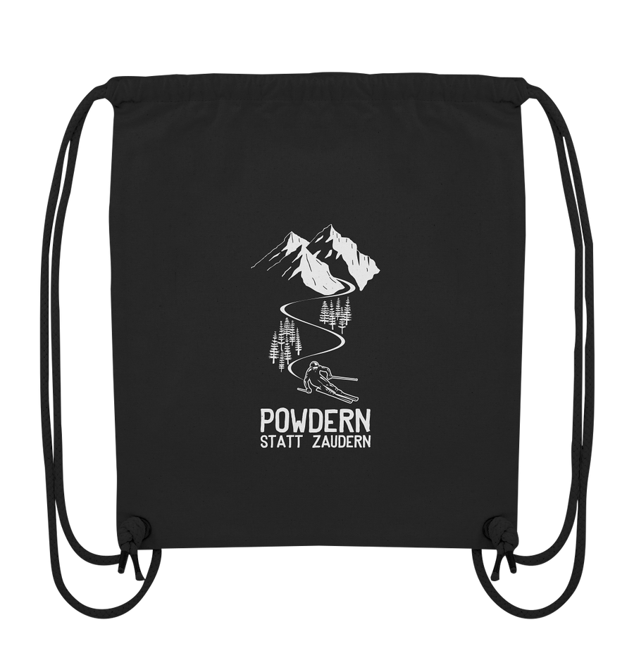 Powdern statt zaudern - Ski - Organic Gym Bag