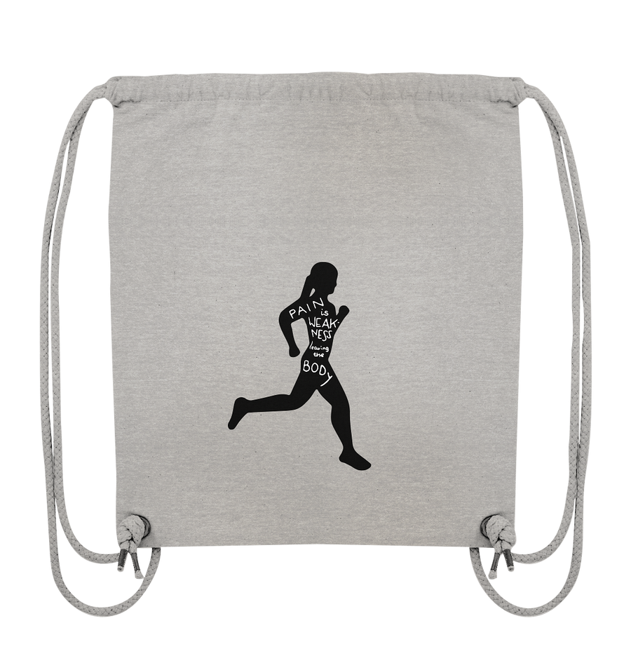 Runner Woman Pain - Organic Gym Bag