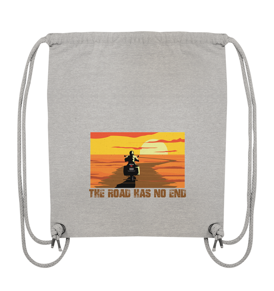 The Road has no End - Organic Gym Bag