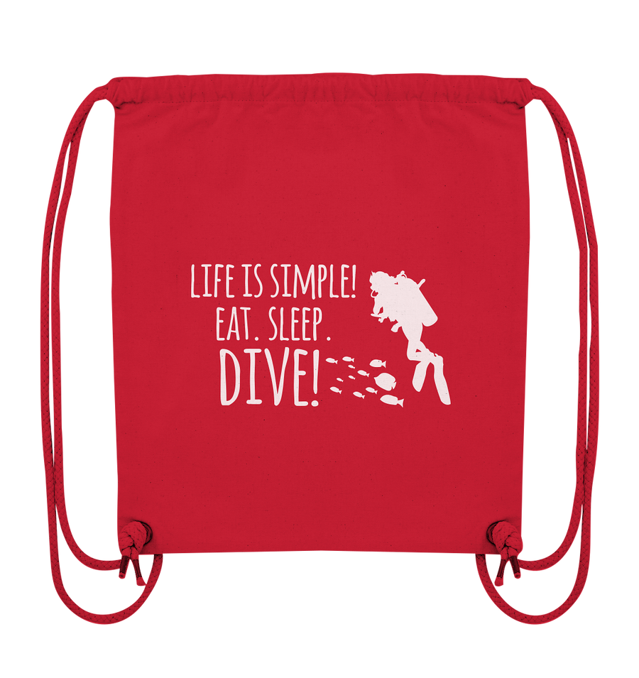 Eat. Sleep. Dive - Organic Gym Bag