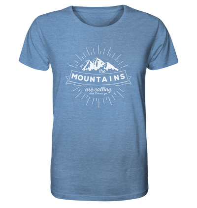 Mountains are Calling - Organic Shirt Meliert