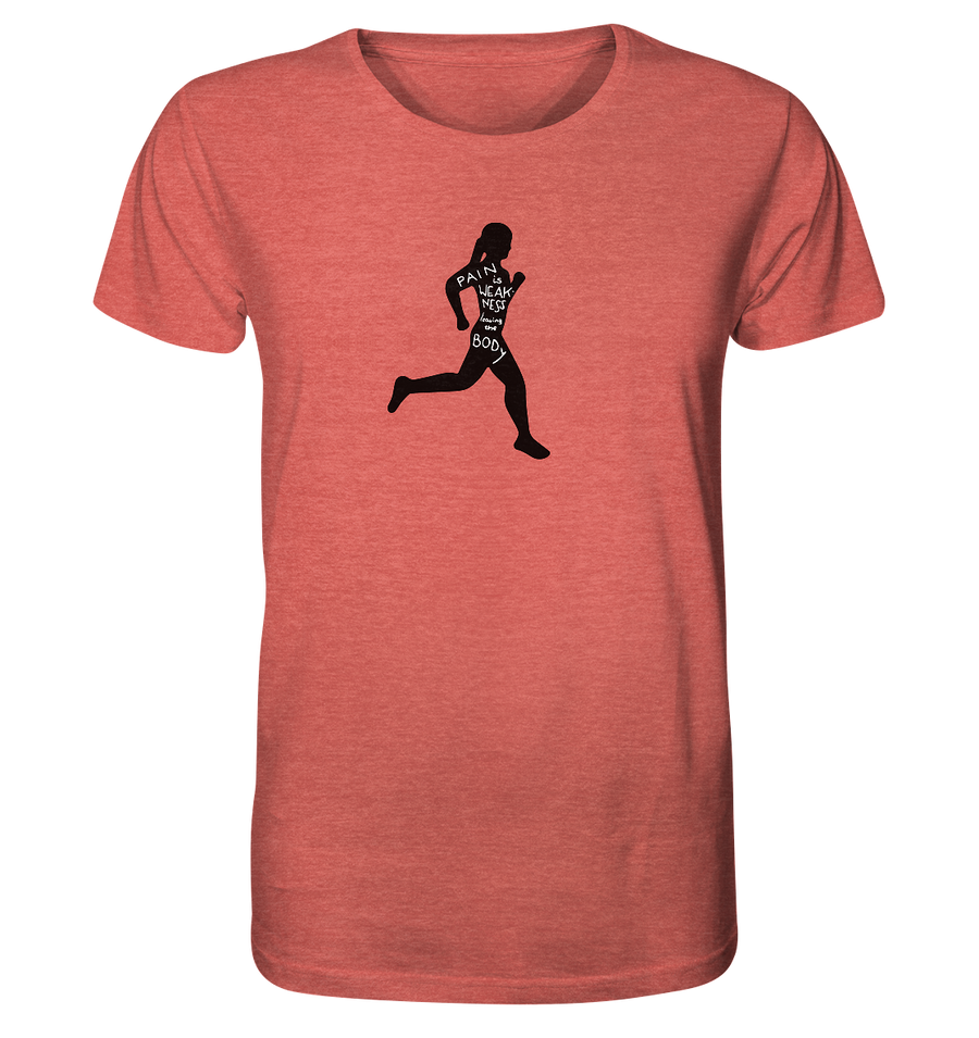 Runner Woman Pain - Organic Shirt Meliert